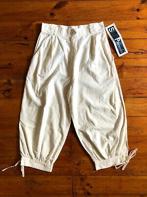 Vintage 1970s 'Susan Parsons' cream cotton knickerbockers with side pockets