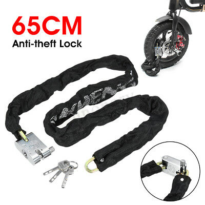 1m HEAVY DUTY CABLE LOCK Strong Bicycle Lock Metal Chain Bike Motorbike T1850 UK