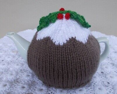 "Tea Cosy - Hand Knitted ""Christmas Pudding"" Tea Cosy (Cosie-Cozy)."