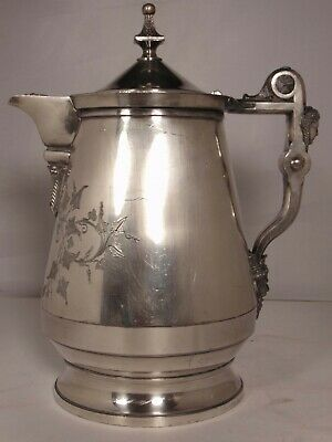 Silverplate Pitcher MYTHOLOGICAL MERIDEN QUADRUPLE SANGRIA Wine Grape Bacchus