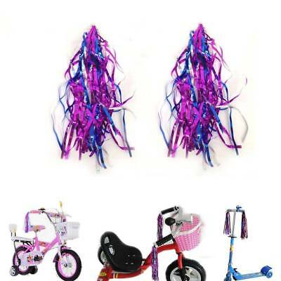 2 Pcs Handlebar Streamers Tassels For Kids Bicycle Bike Cycling Tricycle GifRVBE