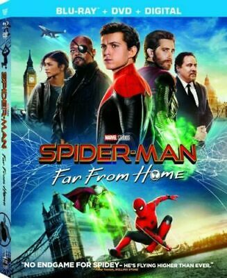 Spider-Man: Far From Home (Blu-Ray + DVD) NEW w/SLIPCOVER (No Digital) FREE SHIP