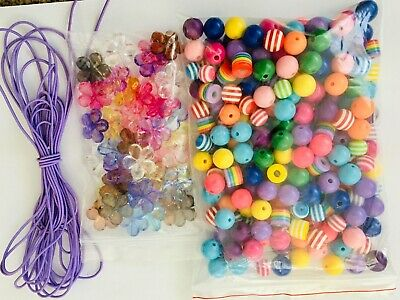 Kids DIY jewellery making kit. Make 5 colourful necklaces and bracelets.