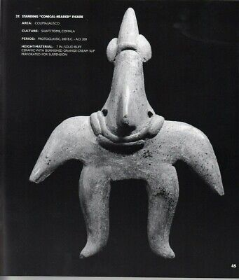 pre-Columbian Standing Figure; Shaft-Tomb Colima Ca. 200 BC-AD 200; Exhibited