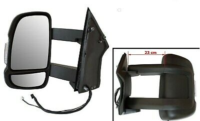 For Fiat Ductao III 2006- Exterior Mirror Left Long Arm Version Manual Motorhome