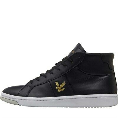 Lyle And Scott Vintage Mens Gemmill Trainers True Black 7-8 UK