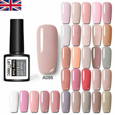 LEMOOC Pink Nude UV Nail Gel Polish Soak Off LED Lamp Base Top Matte Coat 8ml