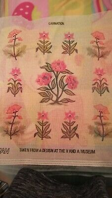 EHRMAN tapestry Kit   CARNATIONS  FROM V AND A MUSEUM
