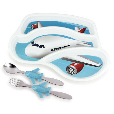NEW Urban Trend Me Time Meal Set Jet Plane 3pce