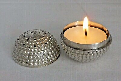 1905 Antique Solid Sterling Silver Night Light in Form Golf Ball (1146/C/AOY)