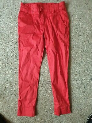 Matalan Its All About Me Red Crop Girls Trousers Age 9 Years