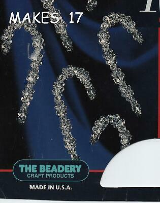 The  Beadery  Crystal  Twist  Candy  Cane  Ornament  Beadcraft  Kit  ~  Makes 17