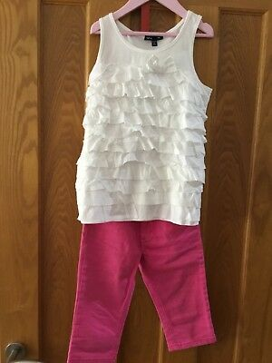 GUESS Cropped style trousers age 6 and Gap top age 6