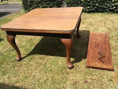 Antique Victorian Solid Wood Wind Out Extending Dining Table Extendable with Key