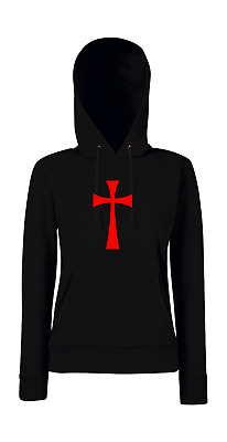 Cross of the Knights Templar (Large) Symbol Religion Cravings Girlie Hoodie