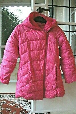 Bright Pink Fuschia Girls Gap Coat size L Kids 10-11 years *Excellent condition*
