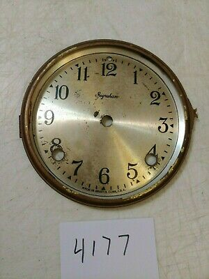 Antique Ingraham Tambour Mantle Clock Dial And Bezel No Glass