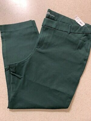 NWT Old Navy Mid-Rise Dark Green Pixie Ankle Stretch Pants for Women Sz 20
