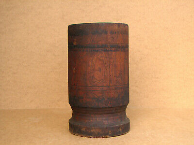 Old Antique Primitive Wooden Wood Pounder for Red Chili Pepper Big Rustic 1920's