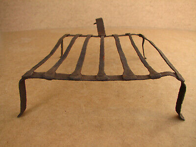 Old Antique Primitive Hand Wrought Hearth Trivet Grill Grid Fireplace BBQ 19th