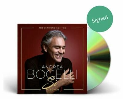 Signed/Autographrd Andrea Bocelli - Si Forever Diamond Edition CD (New Sealed)
