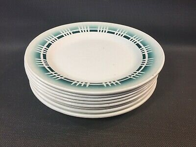 Lot of 8 Antique Plates Ceramic Digoin Made in France Vintage