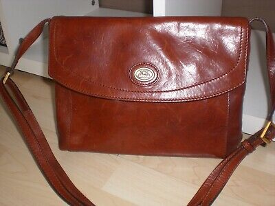 Orig. 80er Ledertasche* The Bridge* cognac* Vintage* Schultertasche*
