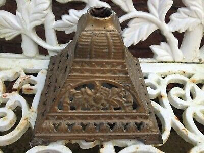 Antique cast iron oil lamp base.