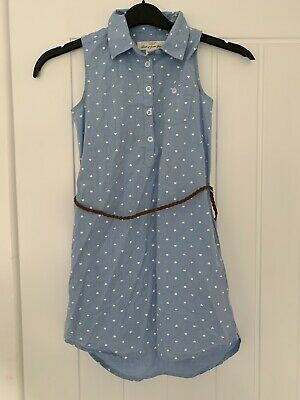 In Exc Girls Light Denim Dress With Belt From H&M Age 9-10 Years