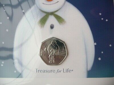 Christmas 2019 Snowman and James 50p Coin Royal Mint Pack BU - Brand New.
