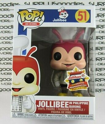 Funko POP! Ad Icons Exclusive JOLLIBEE in Philippine Barong #51 Independence Day