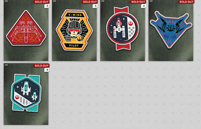 Topps Star Wars Card Trader SWCT Rise of Skywalker Squadron Patches Lot of 22