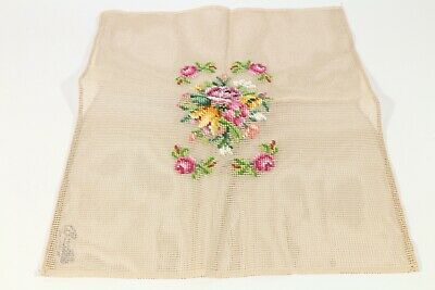Needlepoint canvas tapestry chair, pillow, preworked. Floral. Roses. Bucilla