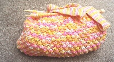 Knitting Needle Bag  Hand Knitted