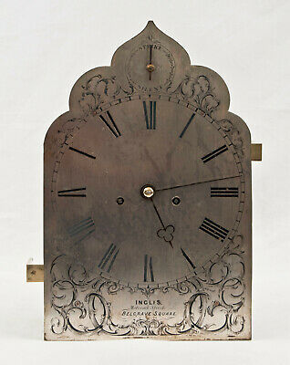 English 2 fusee bracket clock movement & dial @ 1845 Belgrave Square, London Wow