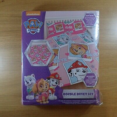 Official Paw Patrol Stars Reversible Double Duvet Cover & Pillowcase Bedding Set