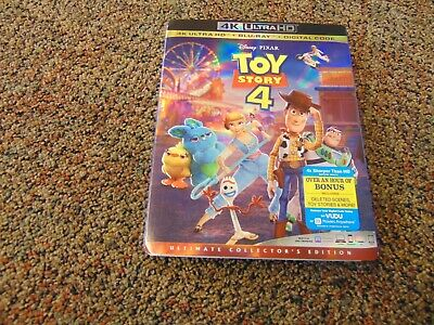 Toy Story 4 (4K Ultra HD + Blu-ray + Digital 2019) w/Slipcover NEW FREE SHIPPING