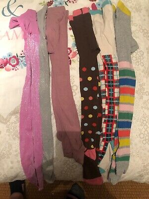 6 Pairs Girls tights age 7-8 Boden