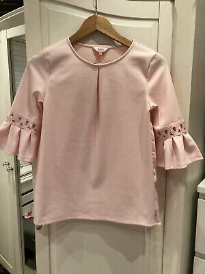 Girls Ted Baker Pink Top Age 11 VGC