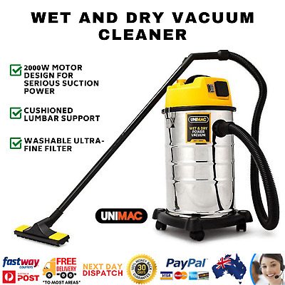 UNIMAC 30L Wet and Dry Vacuum Cleaner Bagless Blower Blowing 2000 W Drywall Vac