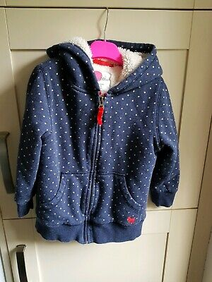 Mini Boden Girls Shaggy Sherpa Lined Hoodie Age 6-7
