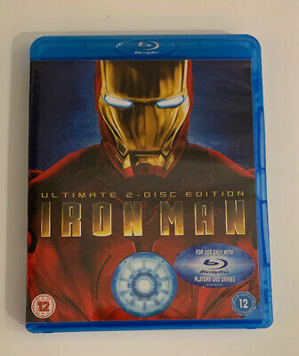 Iron Man Blu-ray 2-Disc Set, Ultimate Edition Mint Condition