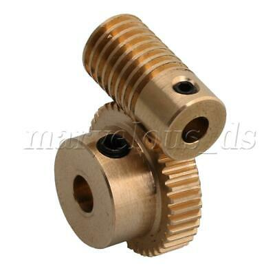 1:40 0.5-mode 40Teeth Brass Worm Gear Shaft Reducer 4mm Articles Parts