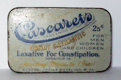 Cascarets Candy Cathartic Laxative For Contipation Tin - Sterling Products (Inc)