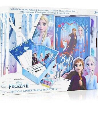 Disney Frozen 2 Secret Diary Set With Box  And Lock  Princess Elsa And Anna Gift