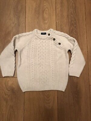 Boys Next Cream Knitted Jumper Age 12-18 Months