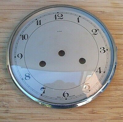 Smiths Enfield Chrome Clock Bezel and Glass with Dial From a Bakelite Clock