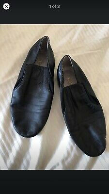 PREOWNED BLOCH Jazz Shoes Kids Girl Black 19.5cm Length