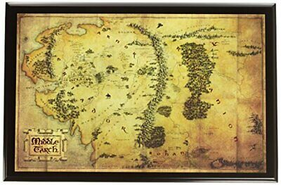 Noble Collection nn2435/Keyring/ /The Lord of the Rings Map of Home Mural Baggins