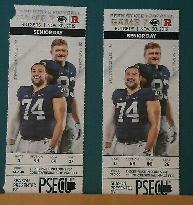 2 Rutgers vs Penn State Football Tickets - Seats Undercover - Easy Access